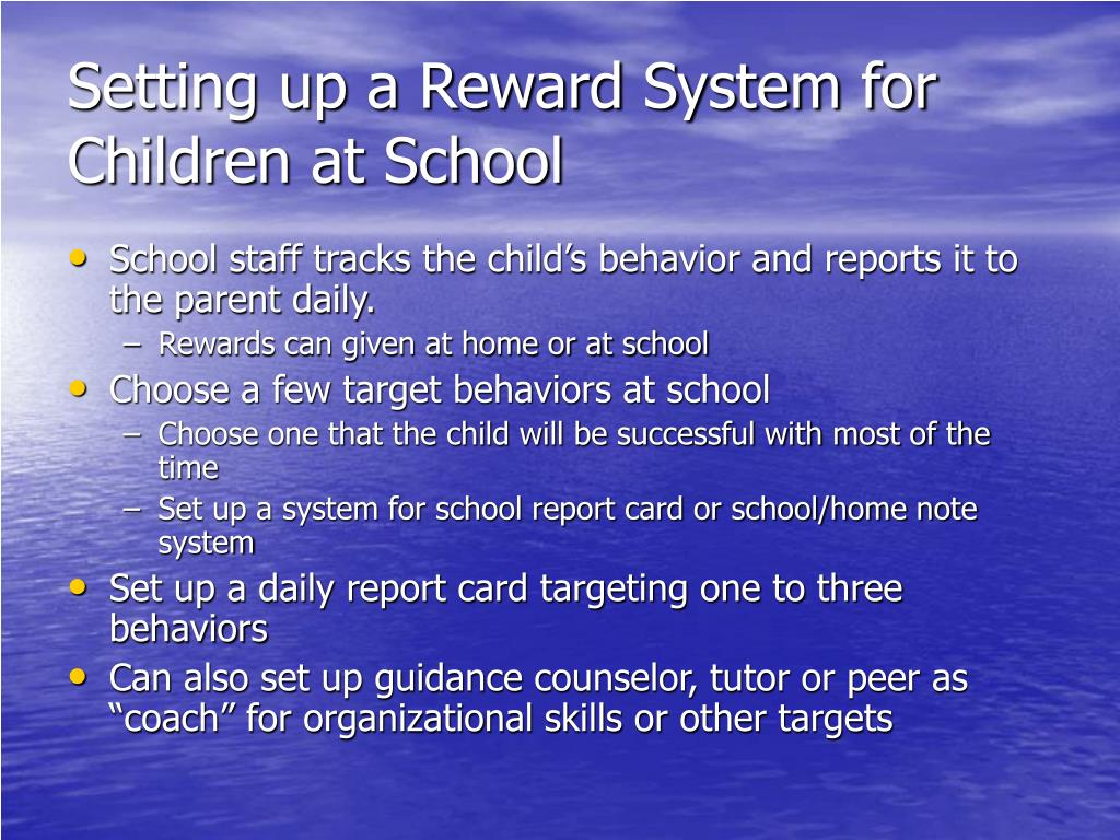 Setting up a Reward System for Children at School