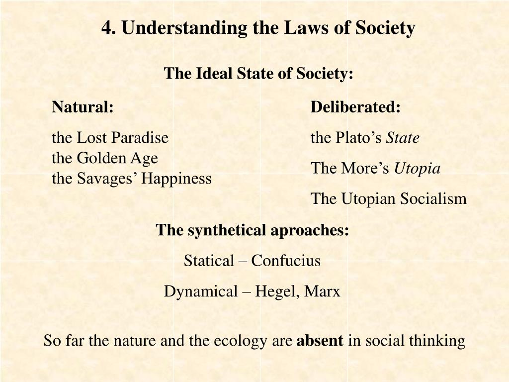4. Understanding the Laws of Society