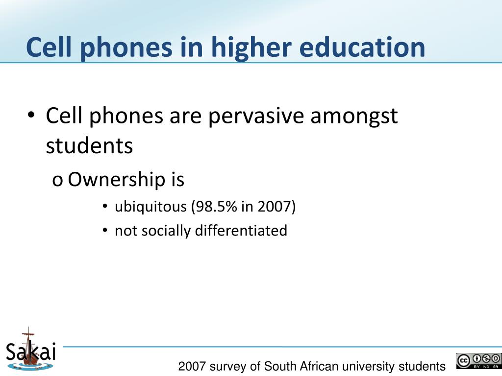 Cell phones in higher education