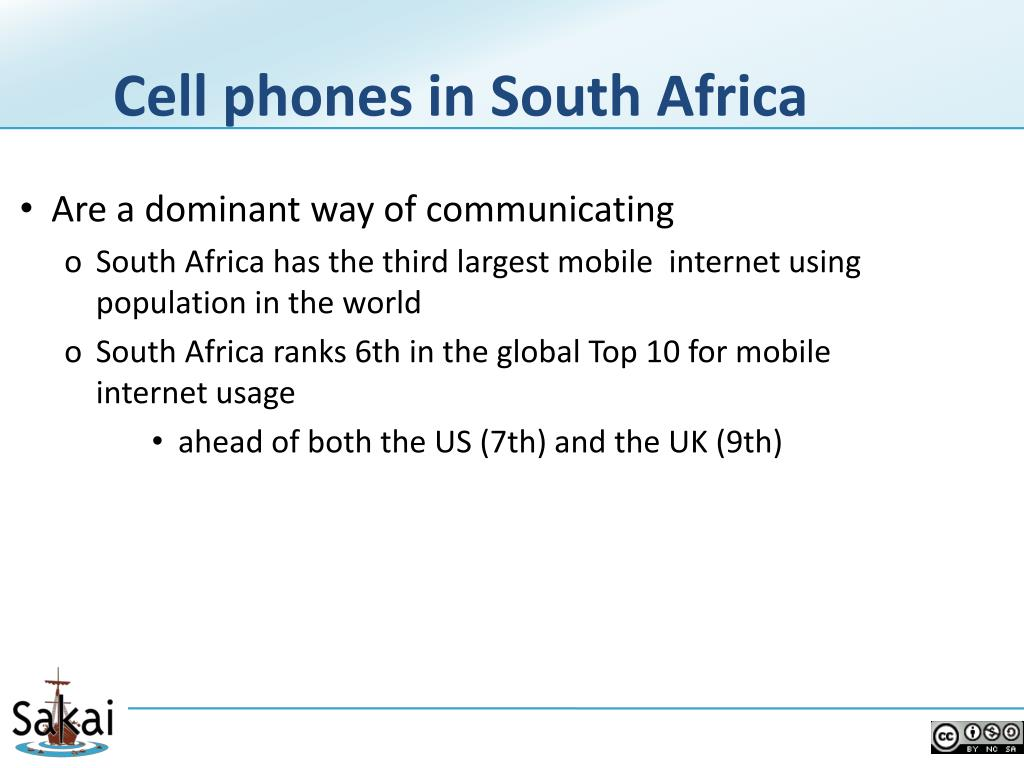 Cell phones in South Africa