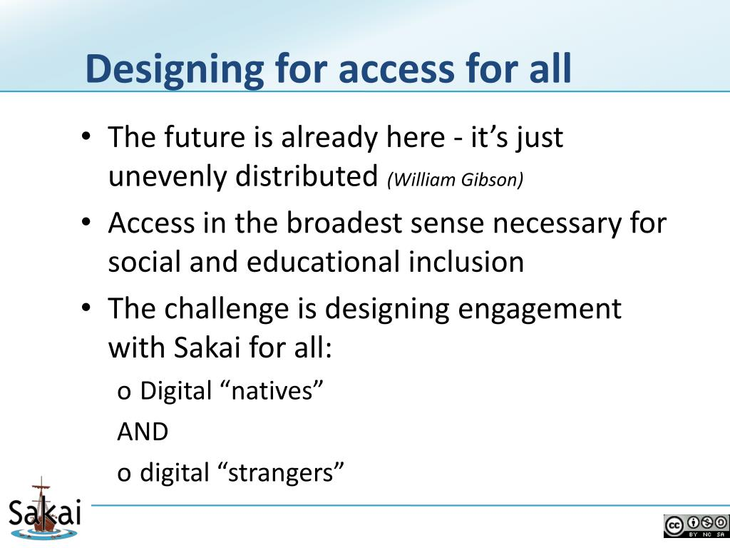 Designing for access for all