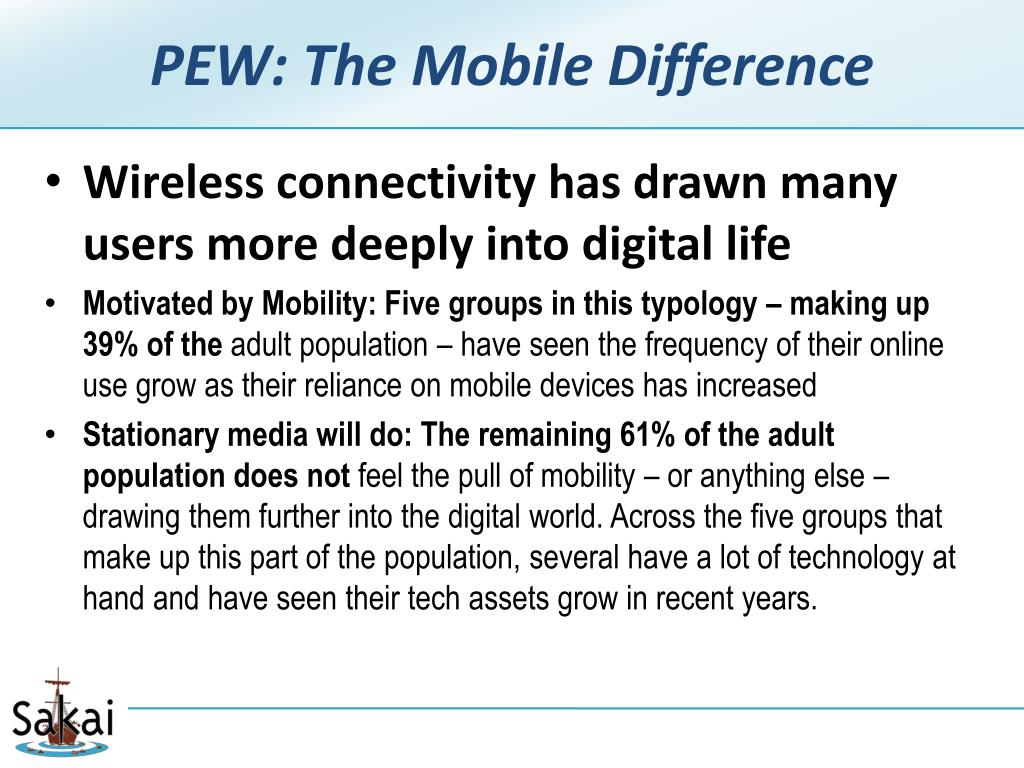 PEW: The Mobile Difference