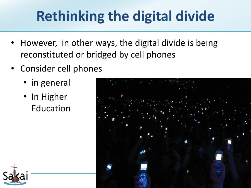 Rethinking the digital divide