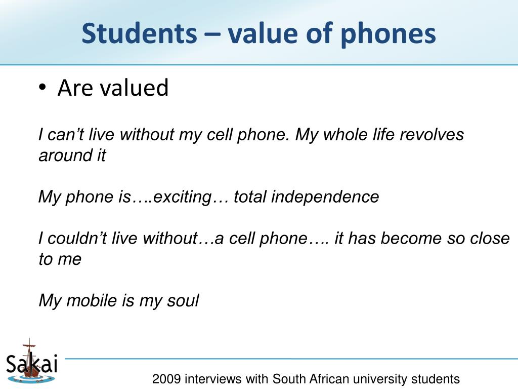 Students – value of phones