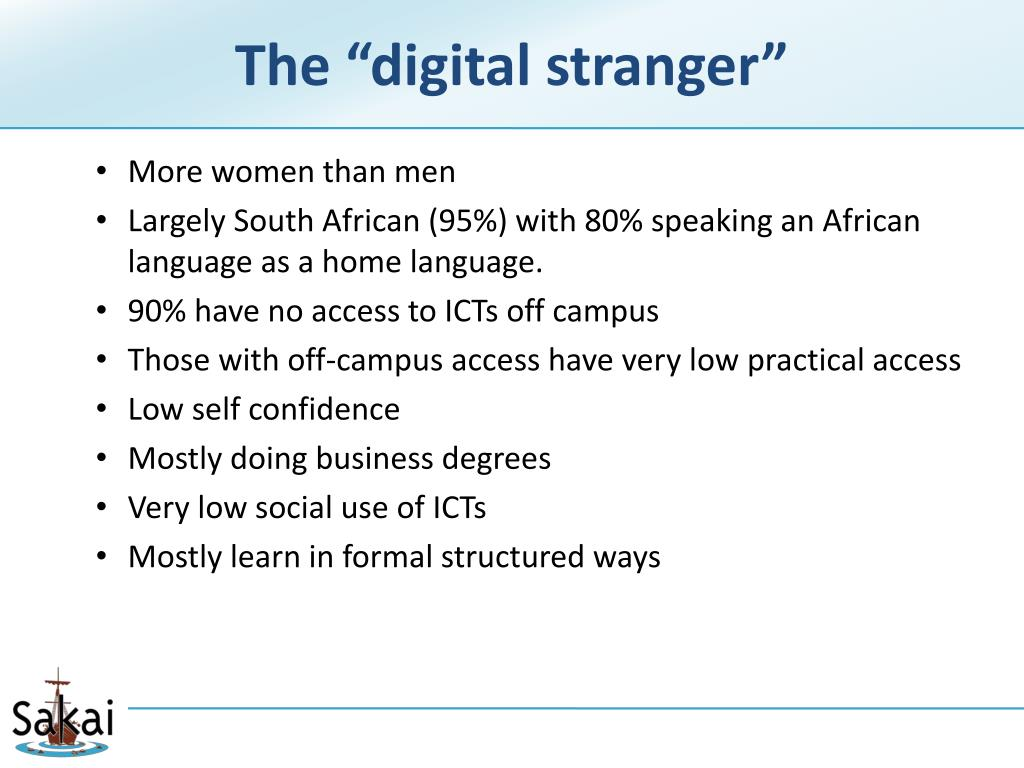 "The ""digital stranger"""