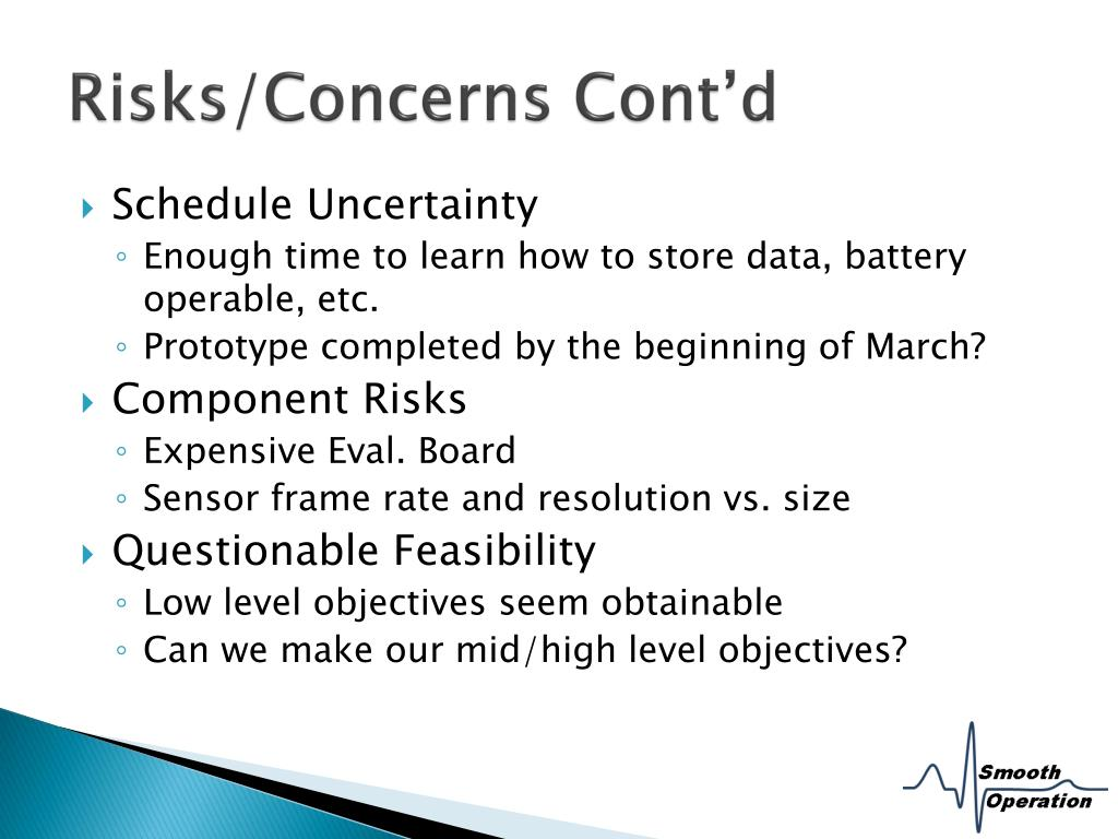 Risks/Concerns Cont'd