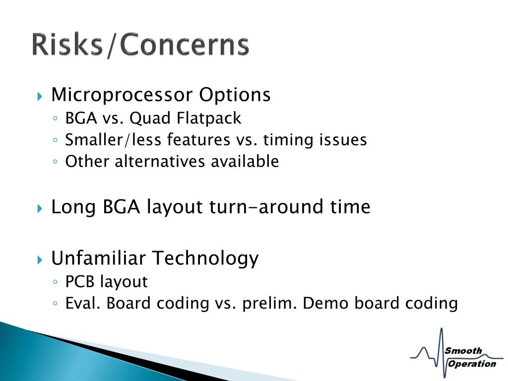 Risks/Concerns