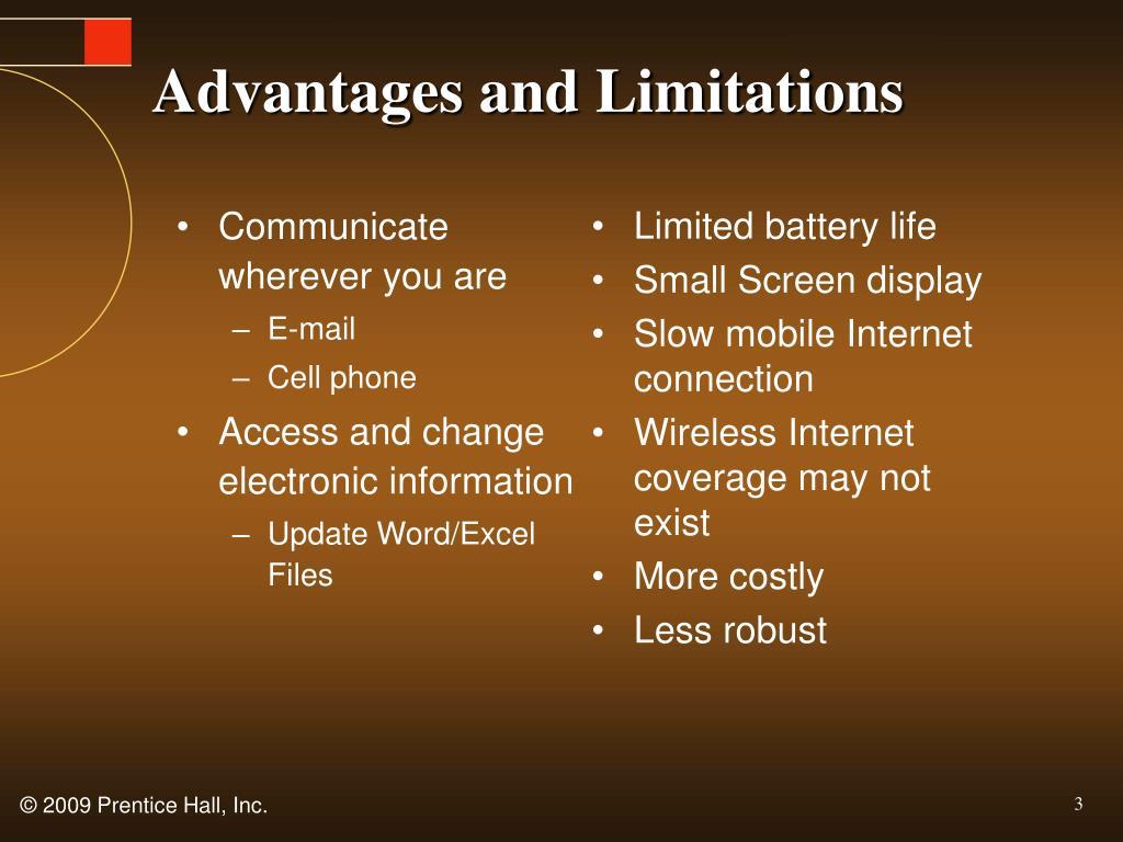 Advantages and Limitations