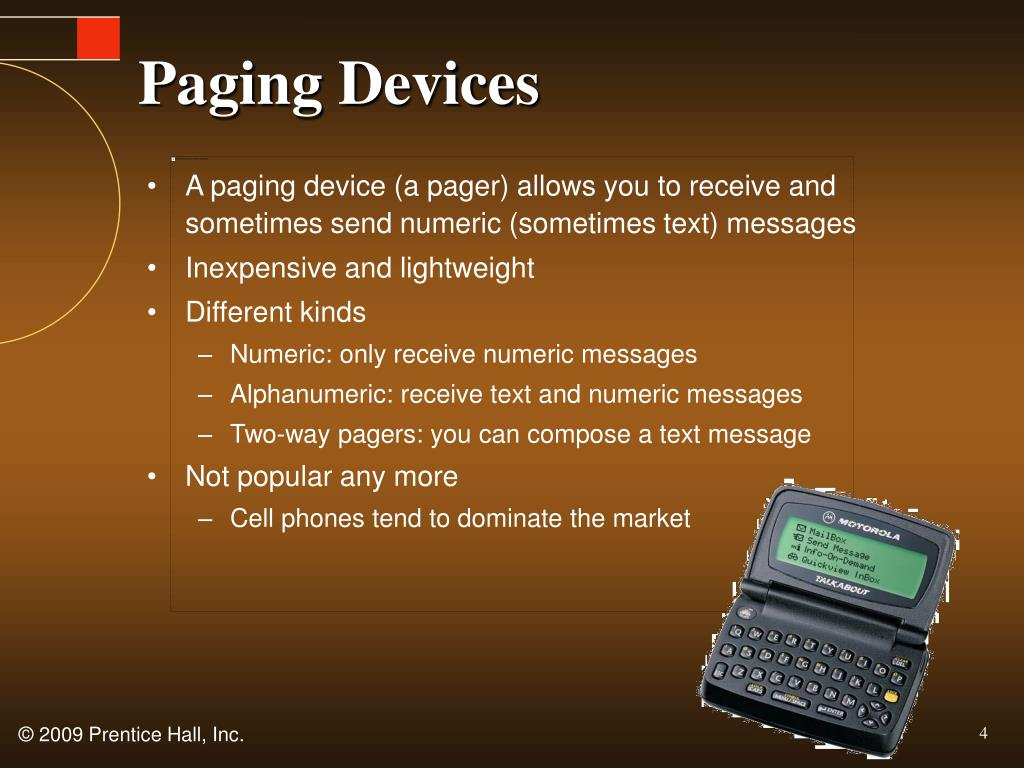 Paging Devices