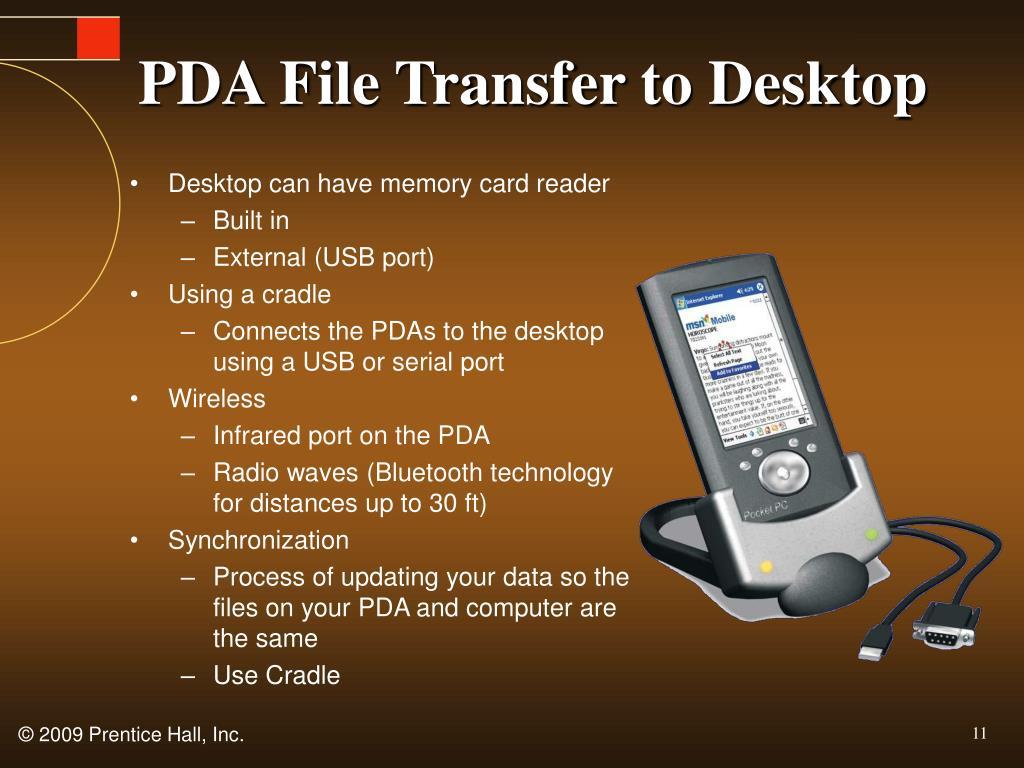 PDA File Transfer to Desktop