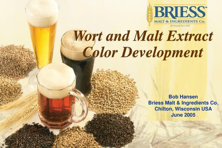 Wort and Malt Extract Color Development