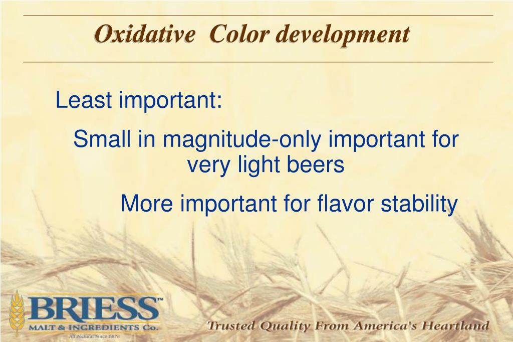 Oxidative  Color development