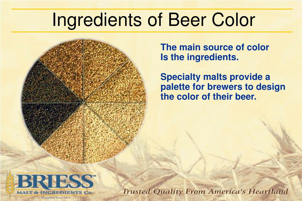 Ingredients of Beer Color