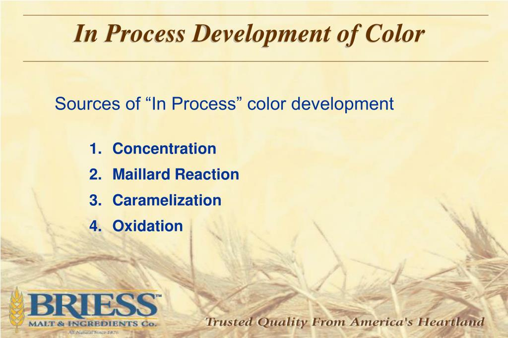 In Process Development of Color
