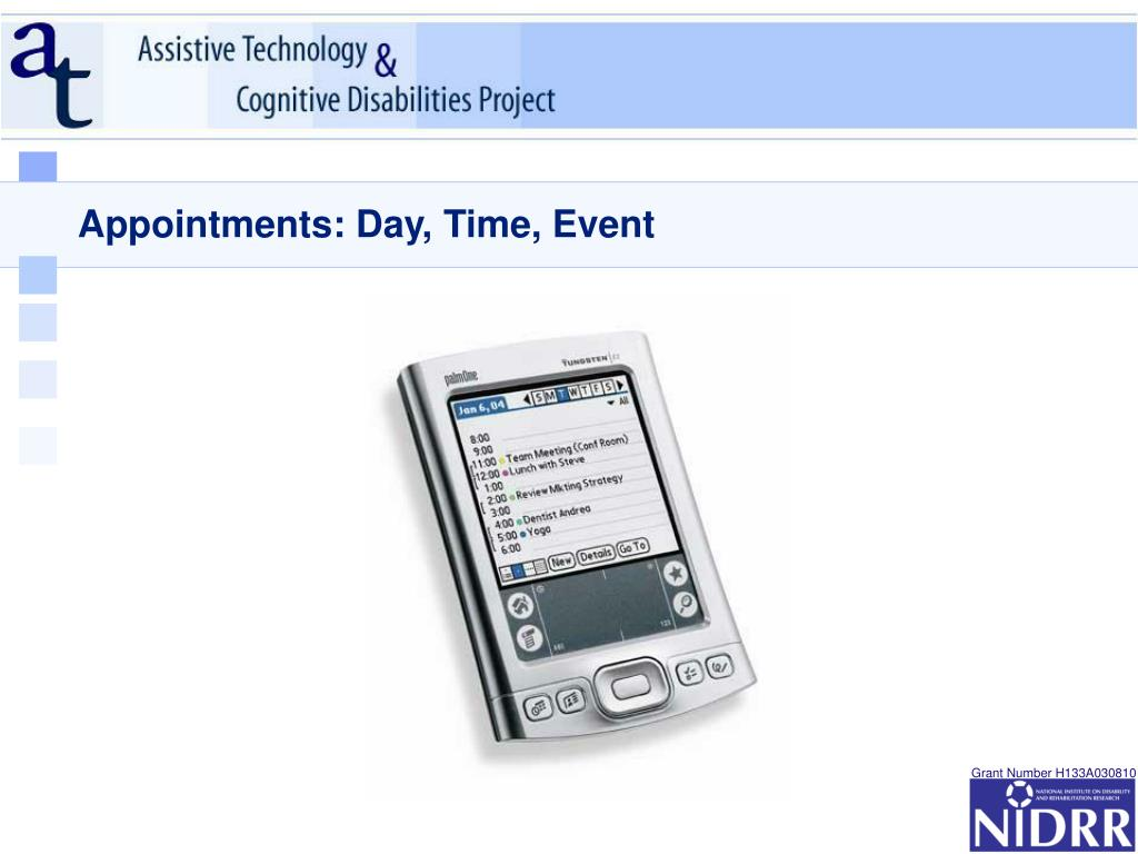 Appointments: Day, Time, Event
