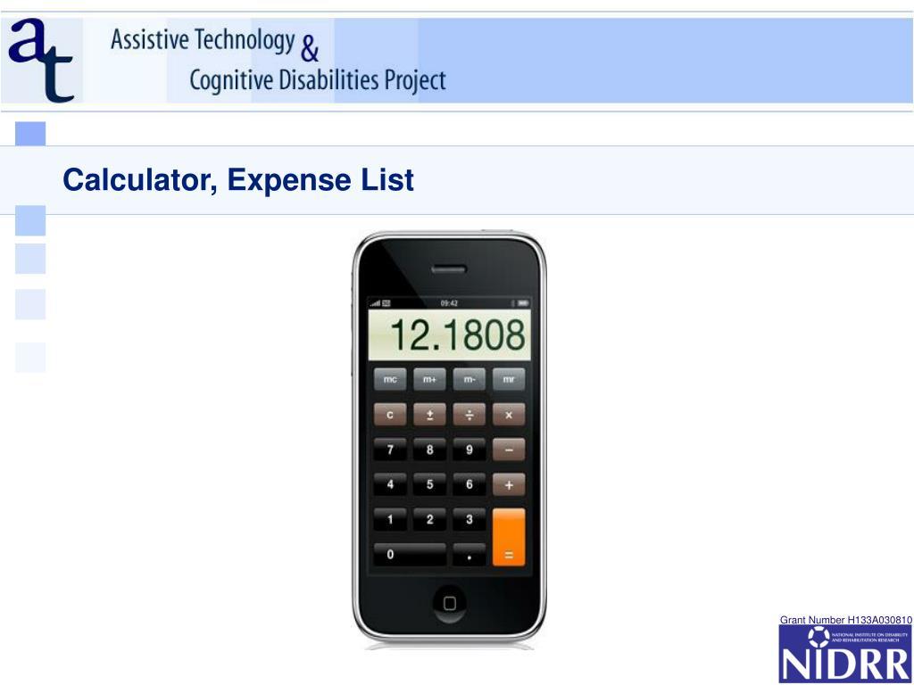 Calculator, Expense List