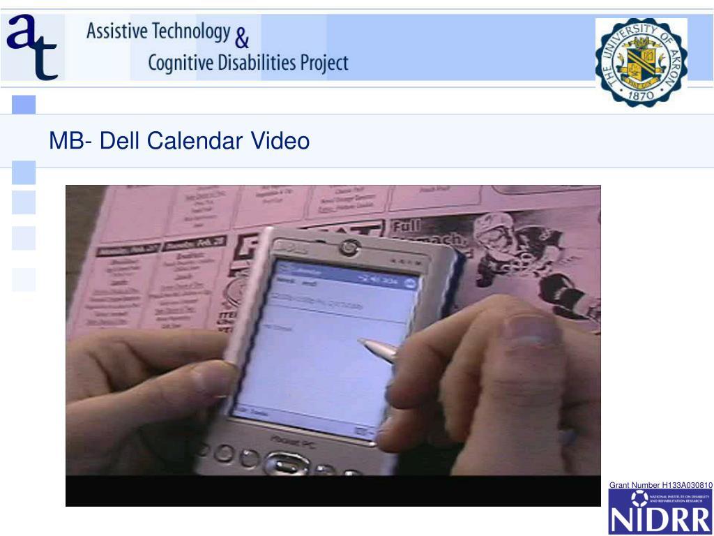 MB- Dell Calendar Video