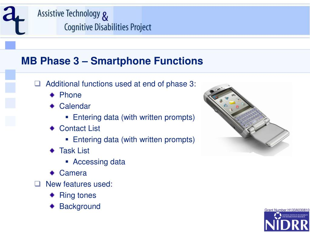 MB Phase 3 – Smartphone Functions