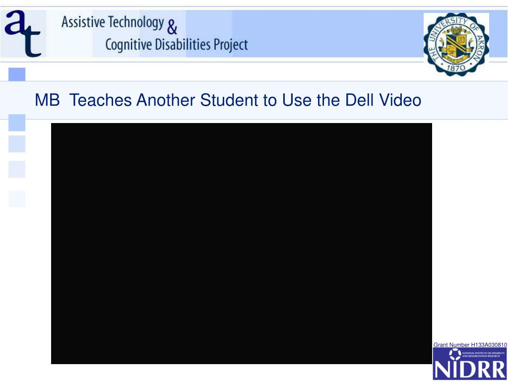 MB  Teaches Another Student to Use the Dell Video