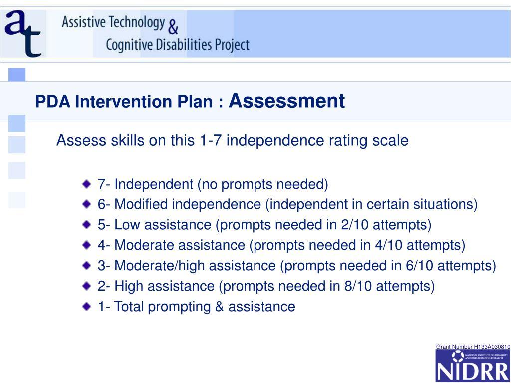 PDA Intervention Plan :