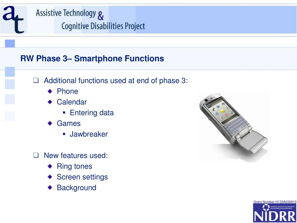 RW Phase 3– Smartphone Functions