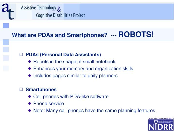 What are pdas and smartphones robots