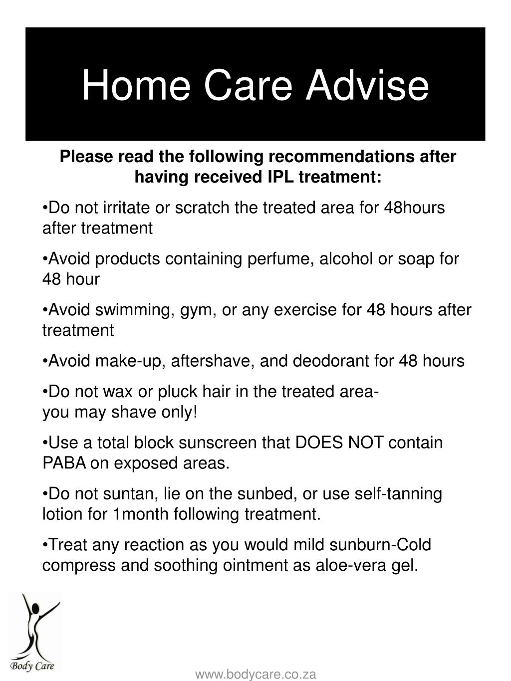 Home Care Advise