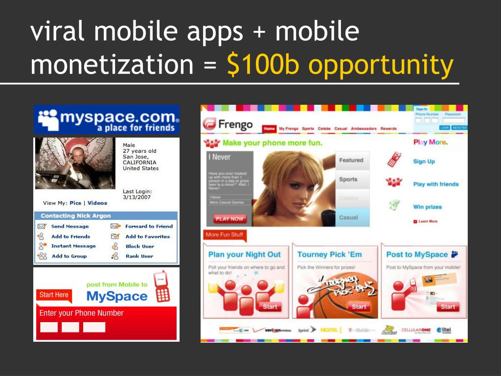 viral mobile apps + mobile monetization =