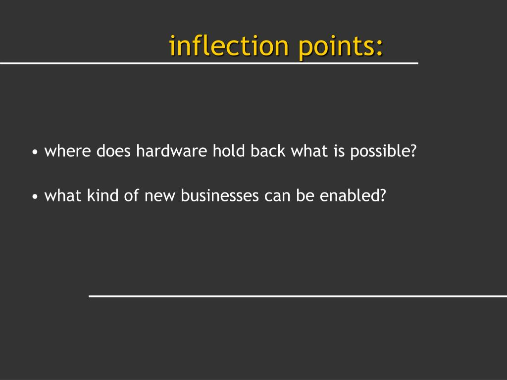 inflection points: