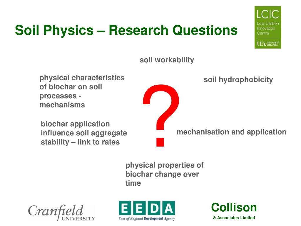 Ppt impact of biochar application on soil properties for Soil research impact factor