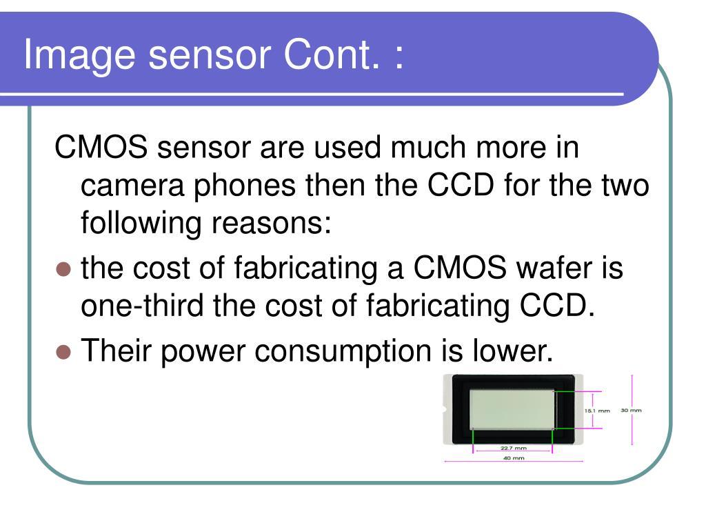 Image sensor Cont. :
