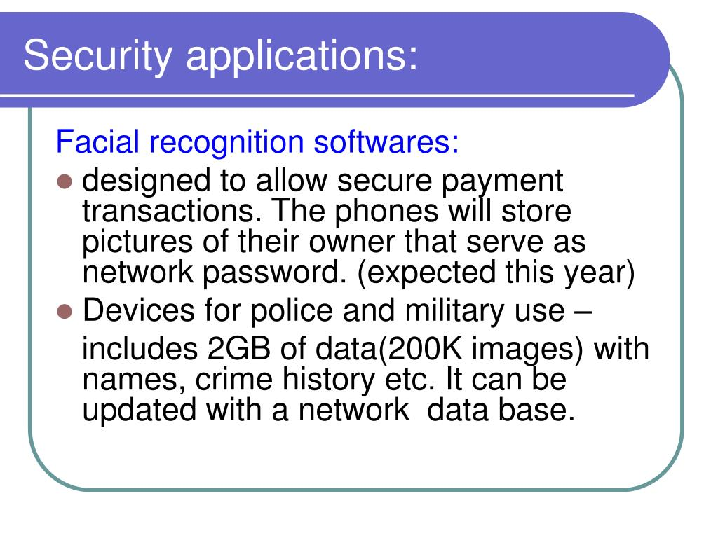 Security applications: