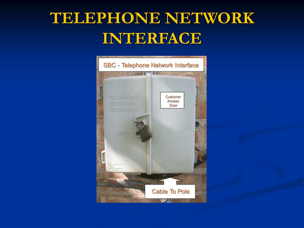 TELEPHONE NETWORK INTERFACE