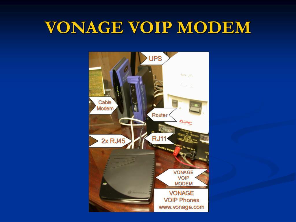 VONAGE VOIP MODEM