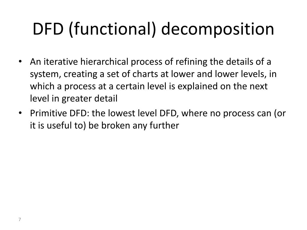 DFD (functional) decomposition