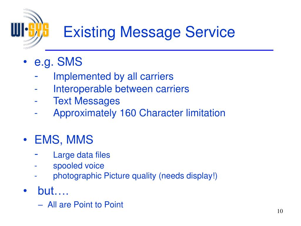 Existing Message Service