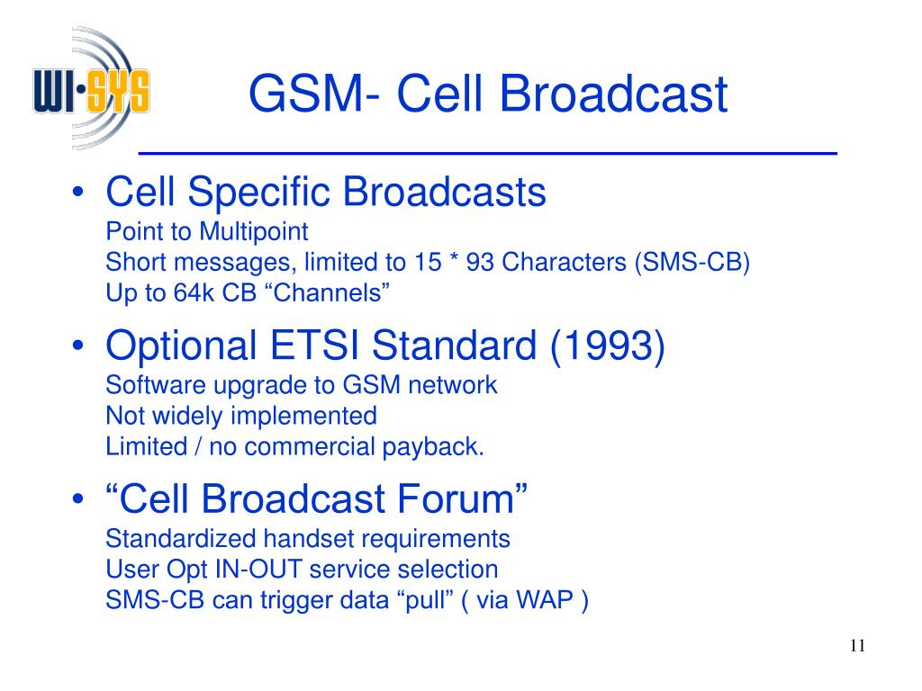 GSM- Cell Broadcast