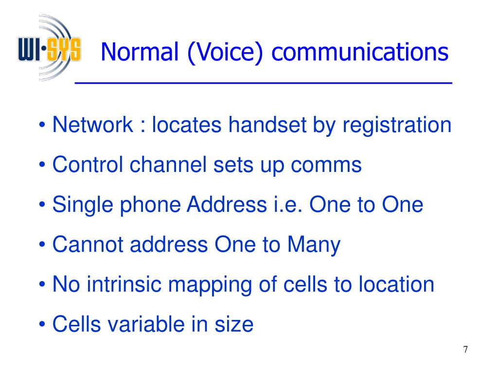 Normal (Voice) communications