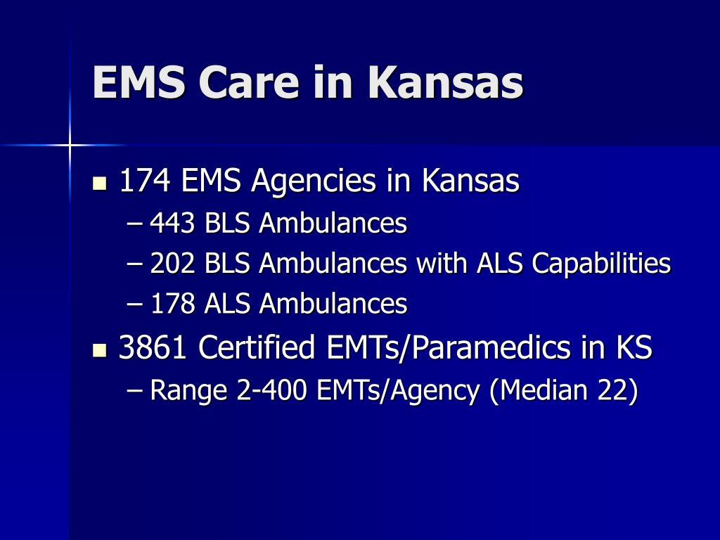 EMS Care in Kansas