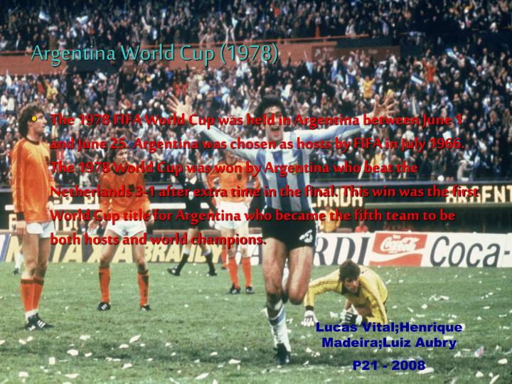 Argentina World Cup (1978)