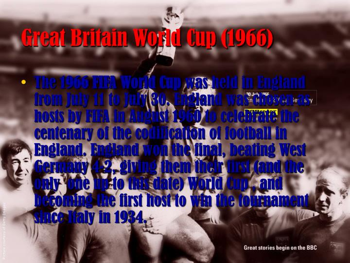 Great britain world cup 1966