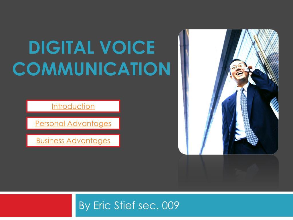 digital voice communication