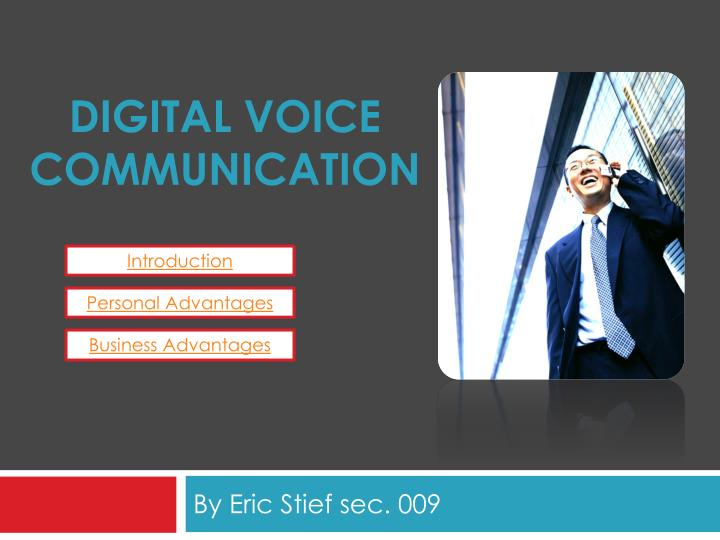Digital voice communication l.jpg
