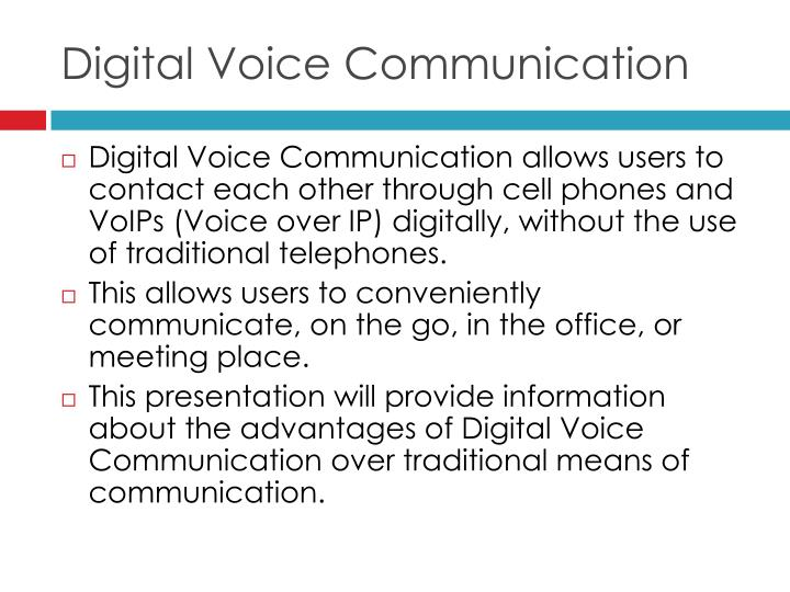Digital voice communication2