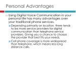 personal advantages