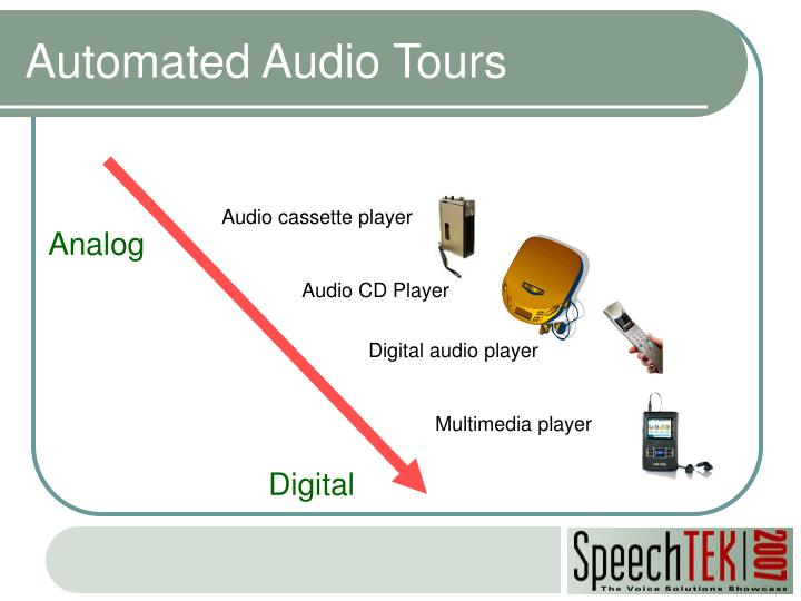 Automated audio tours