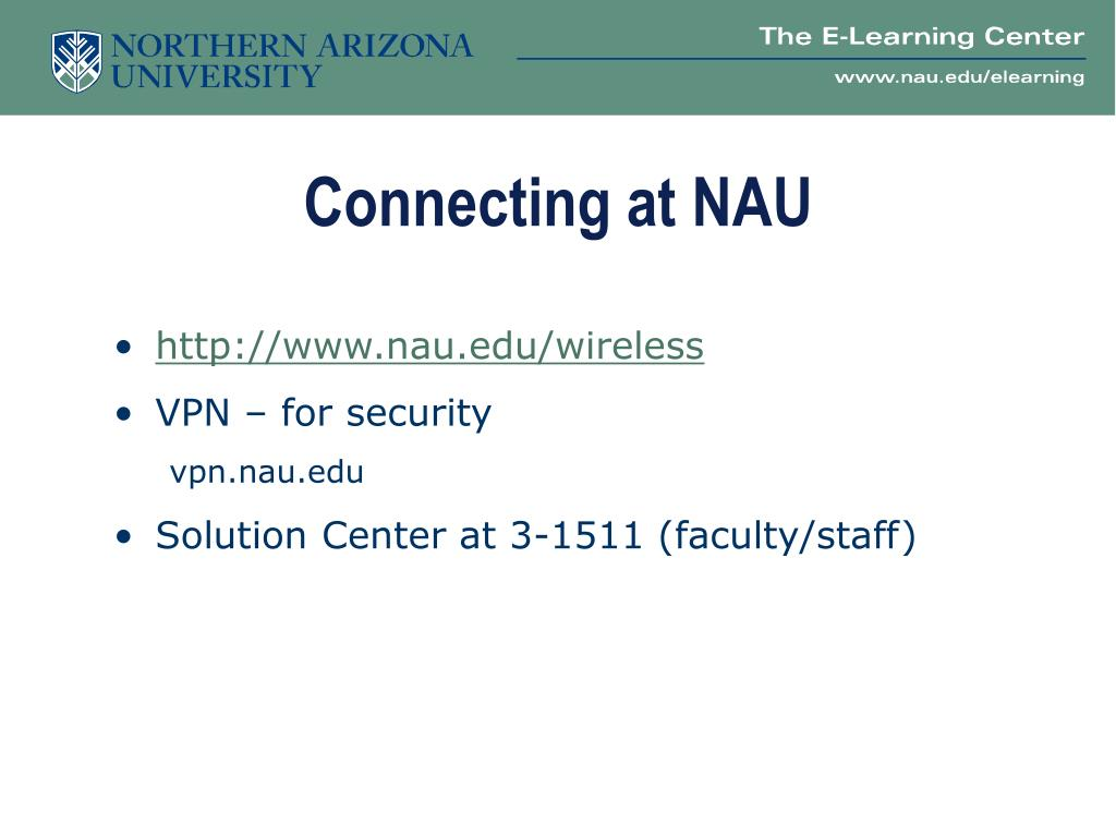 Connecting at NAU