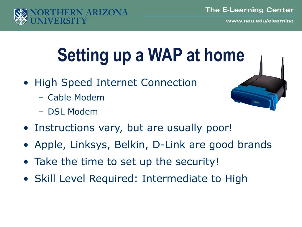 Setting up a WAP at home