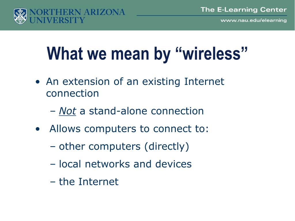 """What we mean by """"wireless"""""""