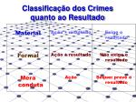 classifica o dos crimes quanto ao resultado